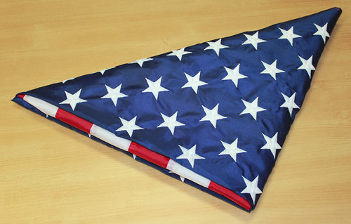 American Flag Triangle Fold