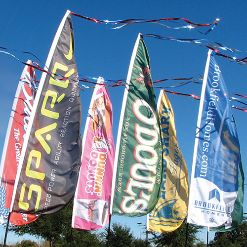 Group Swooper flags 2