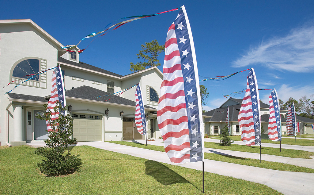 decorative patriotic swooper flags