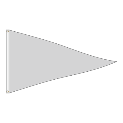 Solid Pennant Flag